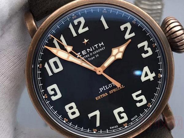 真力时青铜飞行员二手手表回收能卖多少钱 教你突破常规回收价