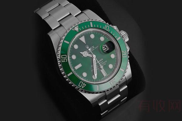 旧劳力士绿水鬼手表价格超公价回收,据说99%的人都不知道!