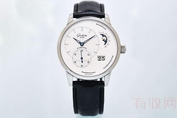 格拉苏蒂90偏心月相大日历手表回收保值吗?二手估价引争议